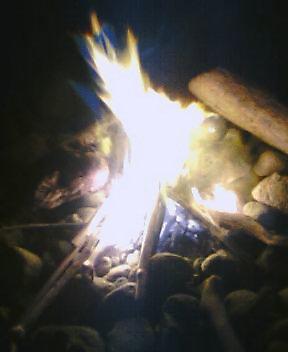 焚き火の夜